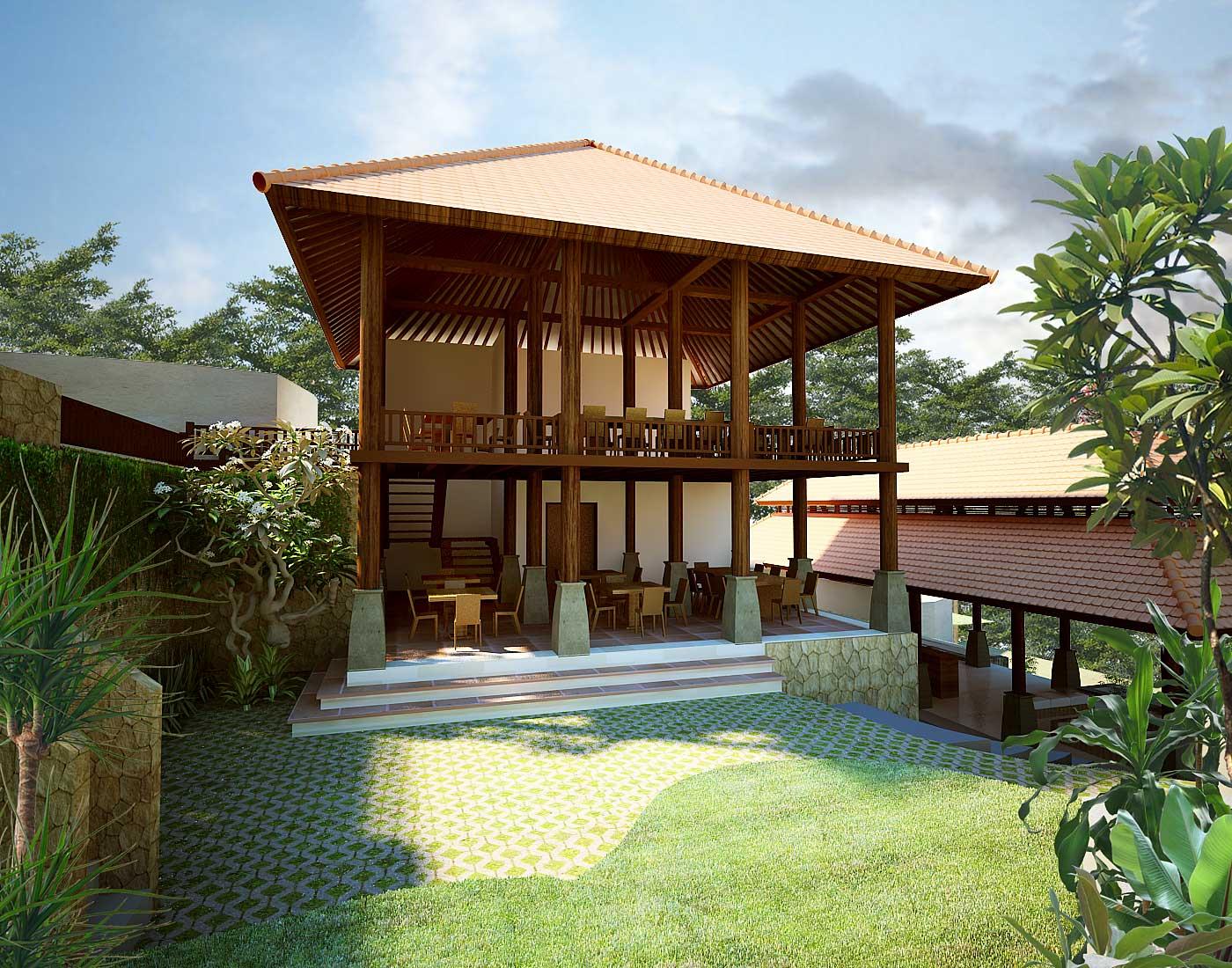 desain villa bambu desain rumah